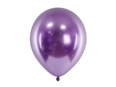 10 Purple Chrome Balloons, Narwhal Party balloons, Mermaid Party Decoration,
