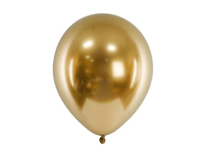 10 Gold Chrome Balloons, Wedding Decor, Graduation, Bachelorette Party,