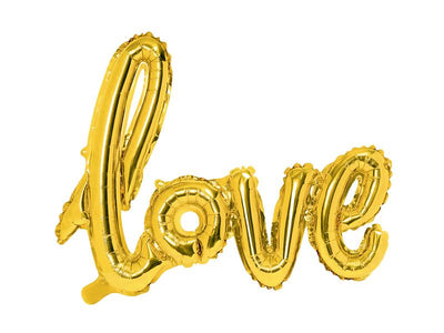 Foil Balloon Love, gold, 73x59cm