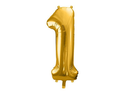 Foil Balloon Number 1, 86cm, gold