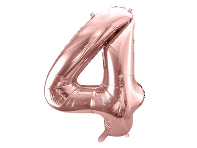 Foil Balloon Number 4, 86cm, rose gold