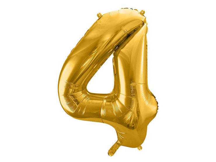 Foil Balloon Number 4, 86cm, gold