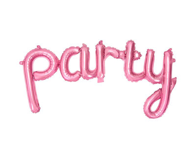 Pink Party Balloon Banner, 80x40cm,