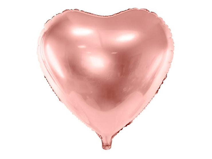 Foil Balloon Heart, 45cm, rose gold