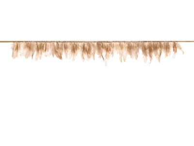 Feather garland, beige pink, lenght 1m