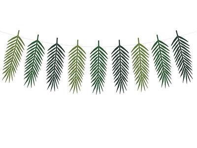 Tropical leaves Bunting  1.25m