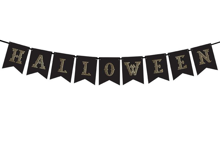 Black Halloween Banner, black, 20x175 cm