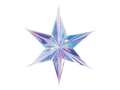 Iridescent Paper Star 40cm, Iridescent Star, iridescent Party Decorations,