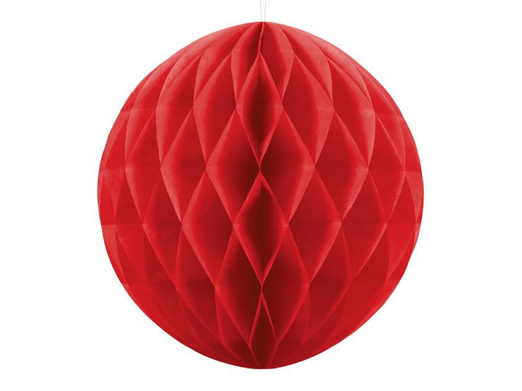 Red Honeycomb Ball, Hanging Party Decoration