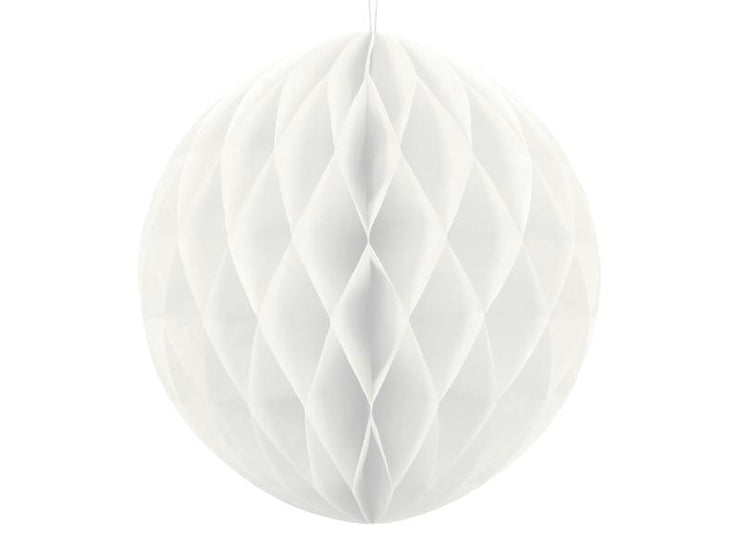 White Honeycomb Ball, Hanging Party Decoration