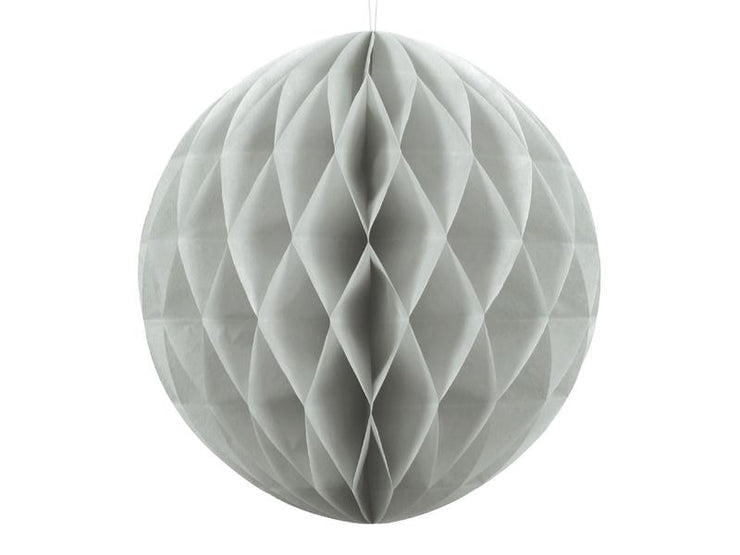 Light Grey Honeycomb Ball, Birthday Party Decorations