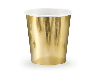 Paper Cups, gold, 180ml (1 pkt / 6 pc.)