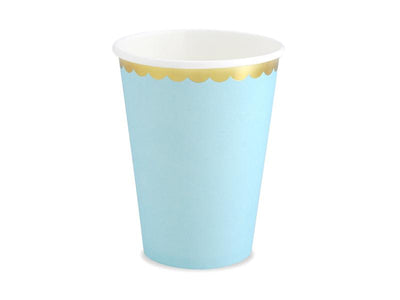 Cups, light blue, 220ml (1 pkt / 6 pc.)