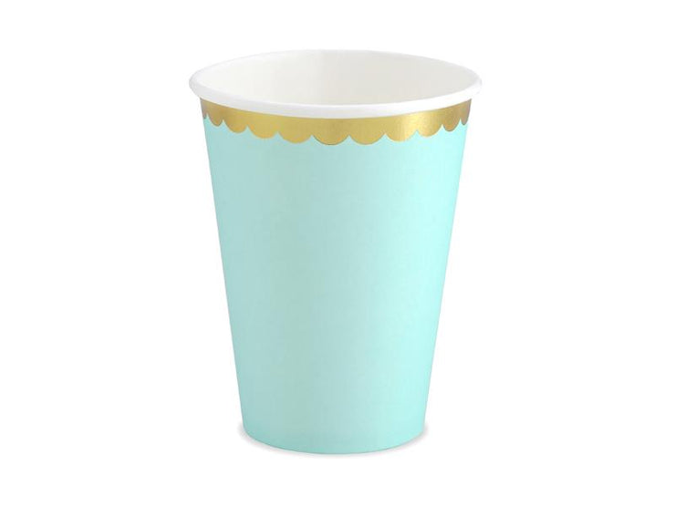 Cups, mint, 220ml (1 pkt / 6 pc.)