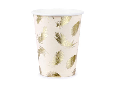 Paper cups Lovely Swan, 220ml (1 pkt / 6 pc.)
