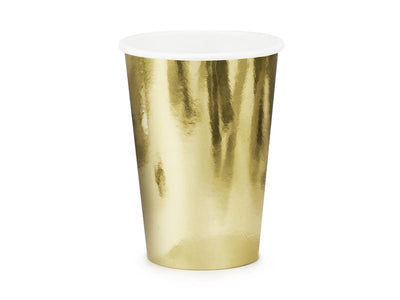 Cups, gold, 220ml (1 pkt / 6 pc.)