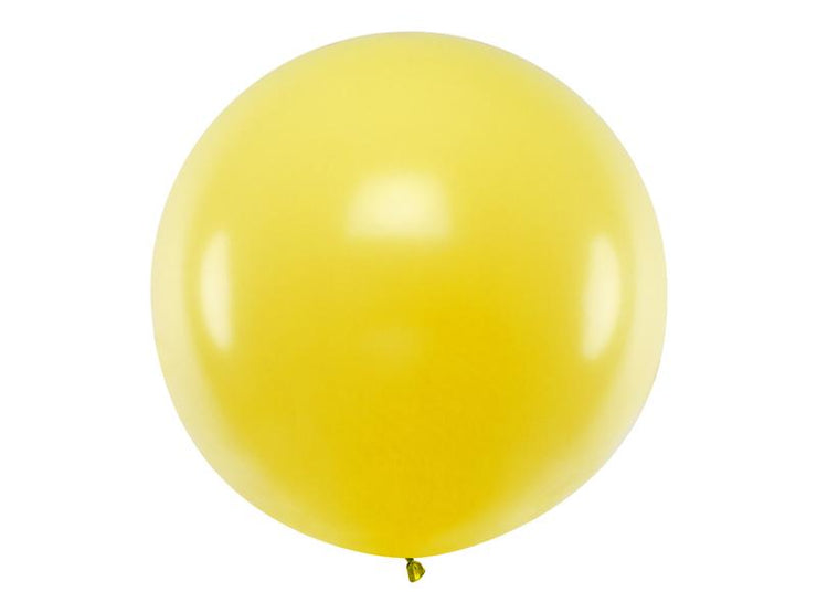 Yellow Giant Latex Balloon, Jumbo Yellow Balloon, Wedding Balloon, Rustic Wedding