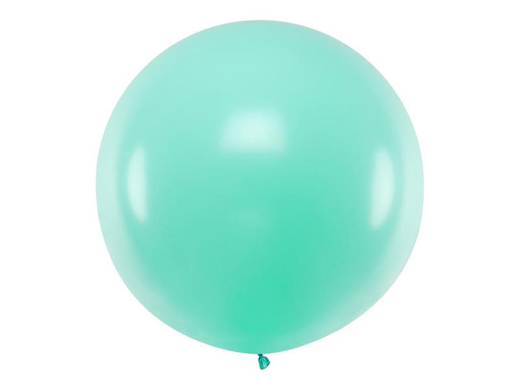 Giant Light Mint Latex Balloon, Jumbo Light Mint Balloon, Wedding Balloon,