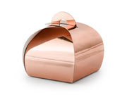 10 Rose Gold Favour Boxes, Wedding Favours, White Wedding Favour Box,