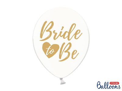 Balloons 30cm, Bride to be, Crystal Clear (1 pkt / 6 pc.)