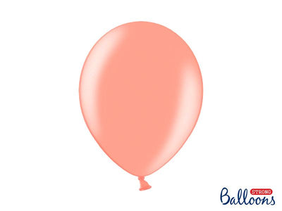 Strong Balloons 30cm, Metallic Rose Gold (1 pkt / 10 pc.)