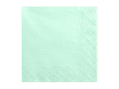 Napkins, 3 layers, mint, 33x33cm (1 pkt / 20 pc.)