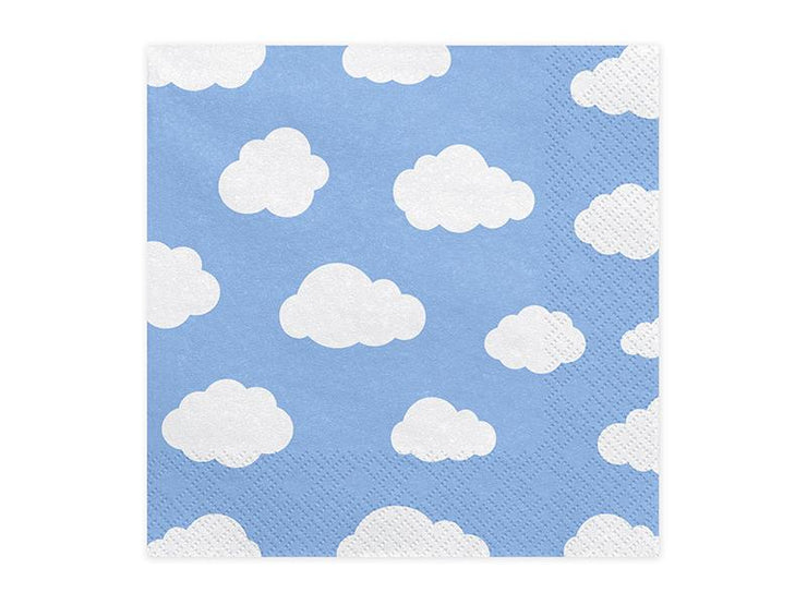 Blue Cloud Napkins, Aeroplane Party napkins 33x33cm