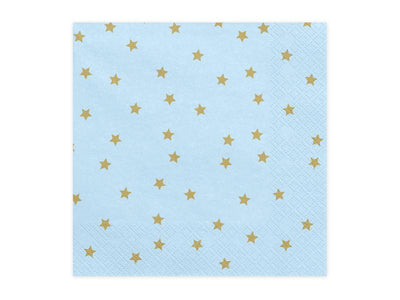 Blue and Gold Stars Napkins, Gold Stars Napkins, Gold Napkins,