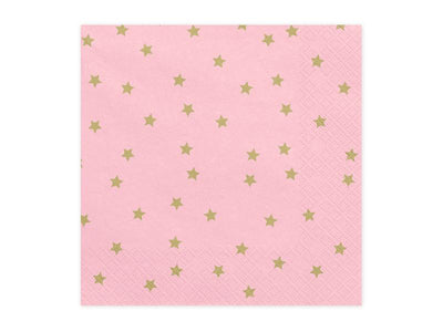 Light pink and Gold Stars Napkins, Gold Stars Napkins, Gold Napkins,