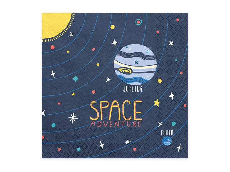 Space Party Napkins , Space Adventure Napkins, Space Man Birthday Party,