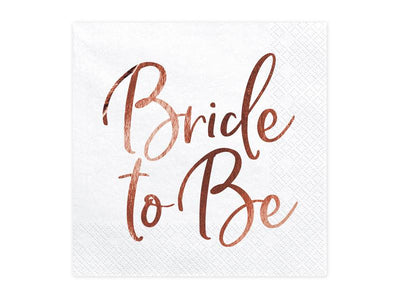 Rose Gold Bride To Be Napkins, Bridal Shower Napkins, Hen Party Napkins