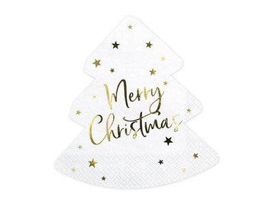 Napkins Christmas tree - Merry Christmas, 16x16.5cm (1 pkt / 20 pc.)