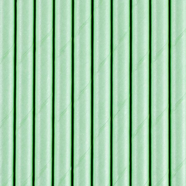 Paper Straws, dark mint, 19.5cm (1 pkt / 10 pc.)