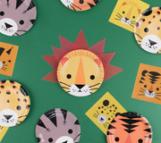 Wild Animals Paper Napkins, Safari Party Napkins, Explorer Birthday,