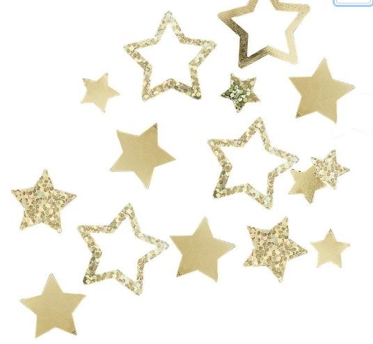 Gold Stars Table Confetti , Baby Shower Table Decoration, Oh baby Confetti,