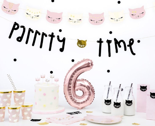Kitten Treat Bags, Mini Kitten Birthday Deco, Pink Treat Bags, Girls birthday Party, Cat  Favour Bags