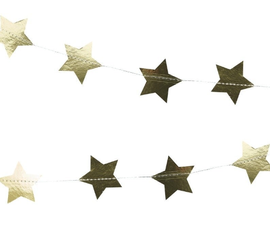 Gold Stars Bunting, Gold Stars Garland,  Wedding Deco decoration, Graduation Party