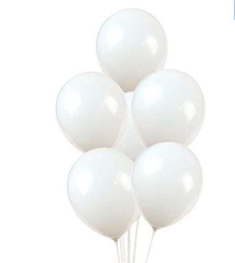 10 Pure White Balloon, White Balloon Bouquet, Baby Shower,