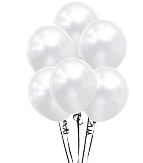 10 Pearl Balloons, White Balloon Bouquet, Baby Shower, Hen Party ,