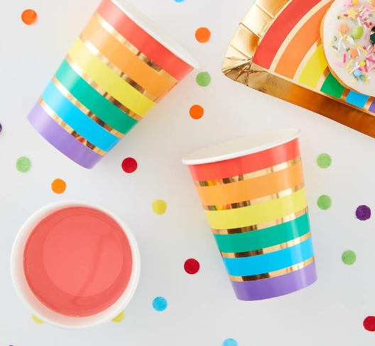 Rainbow  Paper Napkins, Children's Party Decoration,