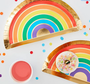 Rainbow Paper Plates, Childrens's Party Decoration,