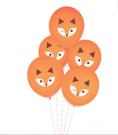 Fox Balloons , Animal Balloons ,Woodland Balloons, Fox First Birthday
