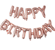 Rose Gold Happy Birthday Foil Balloon, Large Happy Birthday balloon,