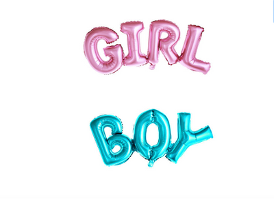 Boy Girl Foil Balloon,baby shower balloon, birthday party or gender reveal