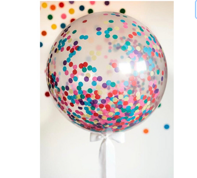 Giant Rainbow Confetti Balloon, Jumbo Confetti Balloon, Wedding Balloon,