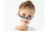 2PK KIDS FACE SHIELDS WITH INTEGRATED WIRE NOSE BRIDGE - WORKS WITH FACE ID