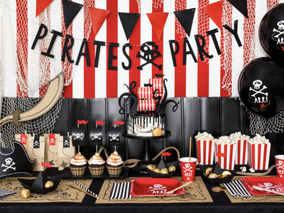 Pirate Party In A Box, Premium Quality Pirate Birthday Party, Pirate Party Set