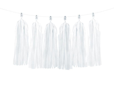 12 White Tassel Garland, 12 Tassel Garland, Baby Shower Decorations, Bachelorette Party,