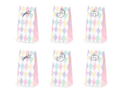Treat bags Unicorn (1 pkt / 6 pc.)