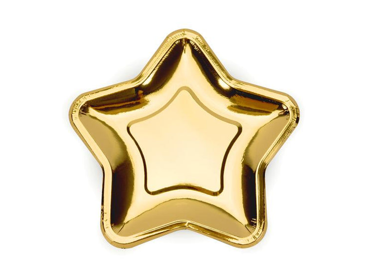 Gold Star Shaped Paper Plates, Gold Star desert  Party Plates, Christmas Plates, Baby Shower Plates, Wedding Tableware,